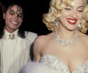 michael jackson, madonna, and king image