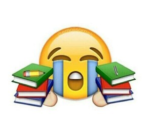 book, emoji, and school image