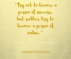 Albert Einstein, person, and quote image