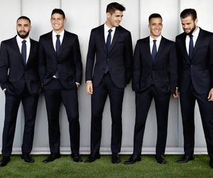 Hugo Boss, suit, and real madrid image