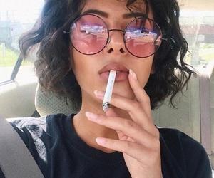 hair, smoke, and tumblr image