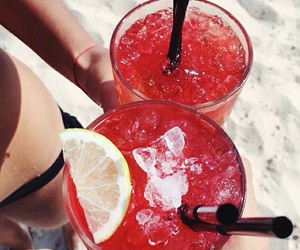 drink, red, and summer image