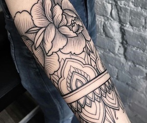 arm, ink, and mandala image