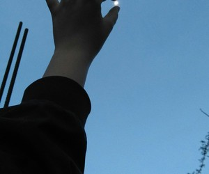 afternoon, blue, and hand image