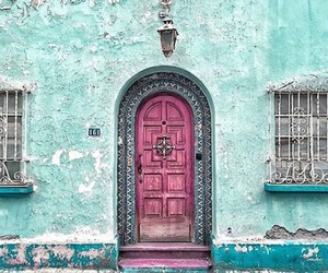 door, pink, and beautiful image