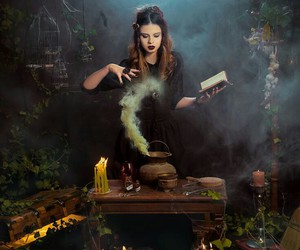 witch, magic, and moon image