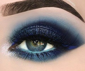 blue, makeup, and beauty image