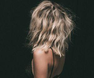 black dress, hair, and girl image