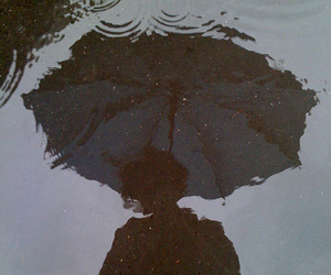 rain, umbrella, and grunge image
