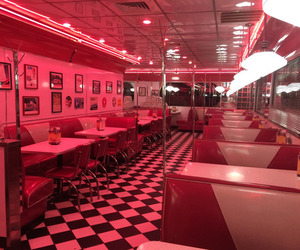 aesthetic, red, and restaurant image