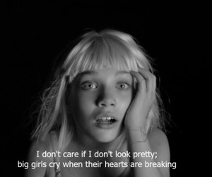 black and white, triste, and big girls cry image
