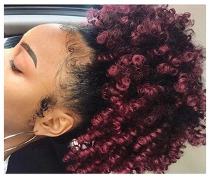 curls, natural, and pretty image