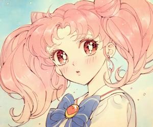 anime, art, and pink image