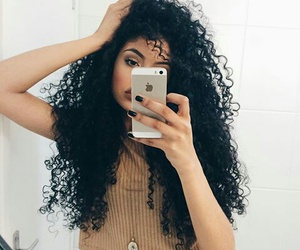 curly, girl, and rizos image