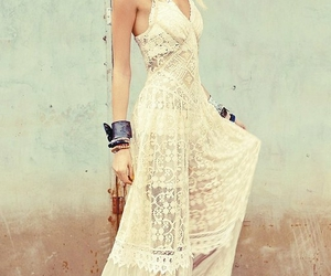 dress, lace, and boho image