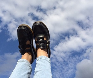 sky, blue, and shoes image