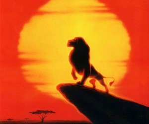 sun, the lion king, and pride rock image