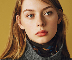 beautiful, model, and blue green eyes image
