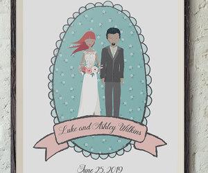 bride and groom, wedding gift, and wedding portrait image