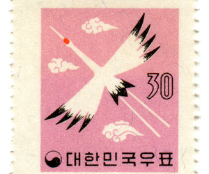 pink, stamp, and bird image