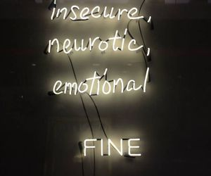 neon, emotional, and insecure image