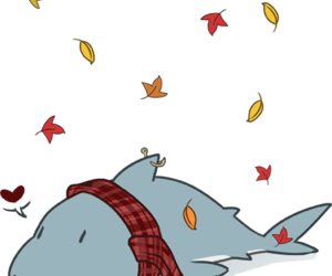 autumn, fall, and great white shark image