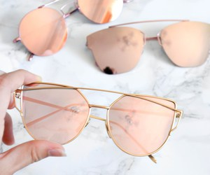 girly, marble, and sunglasses image