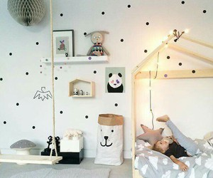 bed room, decoration, and cute image