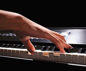 music, piano, and the one image