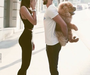 love, couple, and dog image