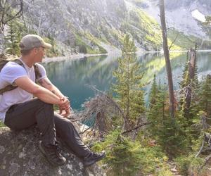 amazing, hiking, and reflections image