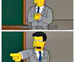 life, funny, and simpsons image
