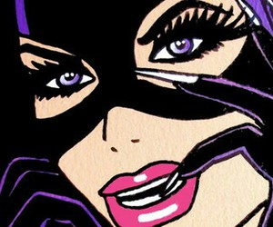cat, catwoman, and comics image
