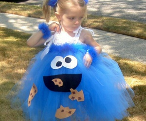 cookie monster, dress, and kids image