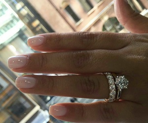 bling, diamonds, and engagement image