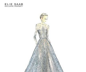 drawing, dress, and elie saab image