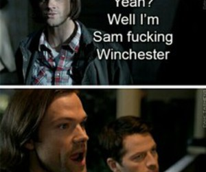 crack, spn, and funny image