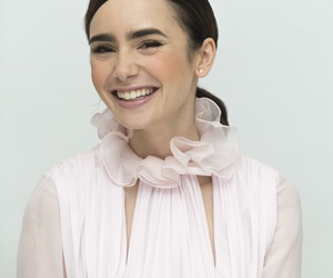 smile and lily collins image