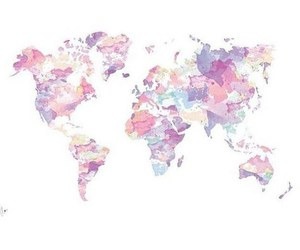 world, overlay, and hipster image
