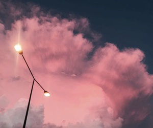clouds, light, and pink image