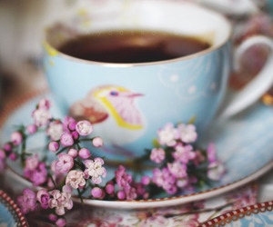 birds, coffee, and flowers image