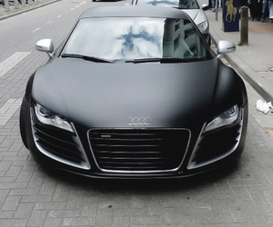 black, car, and audi image