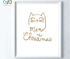 etsy, cat lovers, and meow christmas image