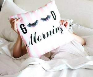 morning, good morning, and pillow image