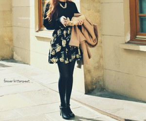 black, skirt, and top image