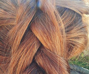 cabelos, ginger, and hair image