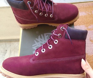 boots, burgundy, and shoes image