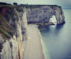 beach, france, and travel image