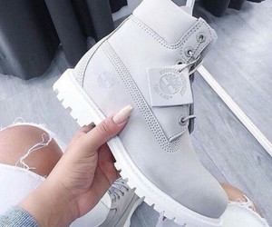 shoes, timberland, and grey image