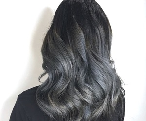 black hair, colored hair, and curly hair image